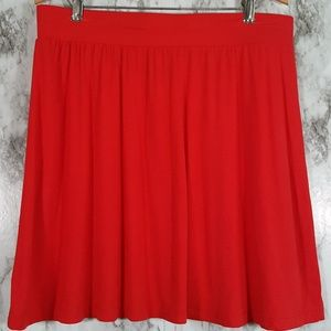 NWT LOFT Factory Red Stretch Swing Skirt M SS47